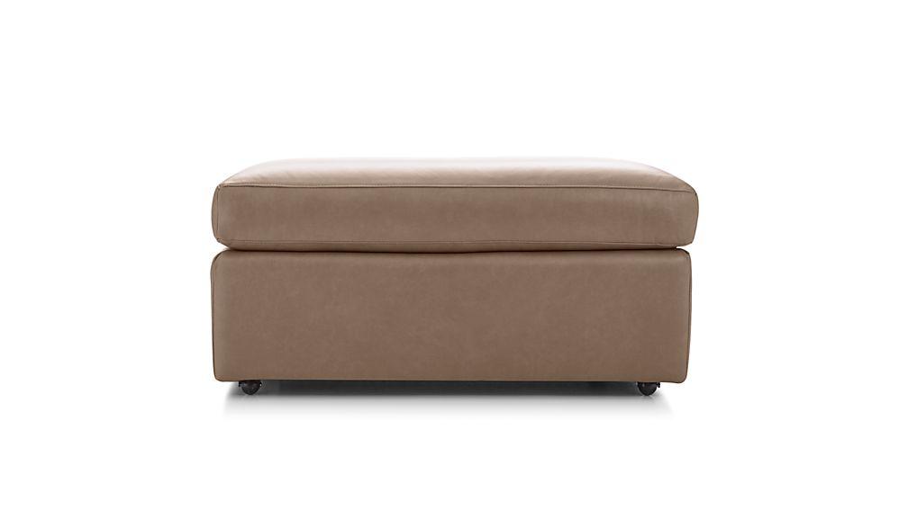 "Lounge II Petite Leather 37"" Ottoman"