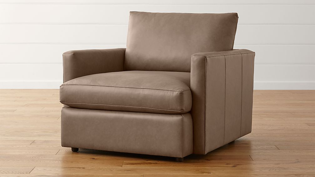 Lounge Ii Small Leather Armchair Reviews Crate And Barrel