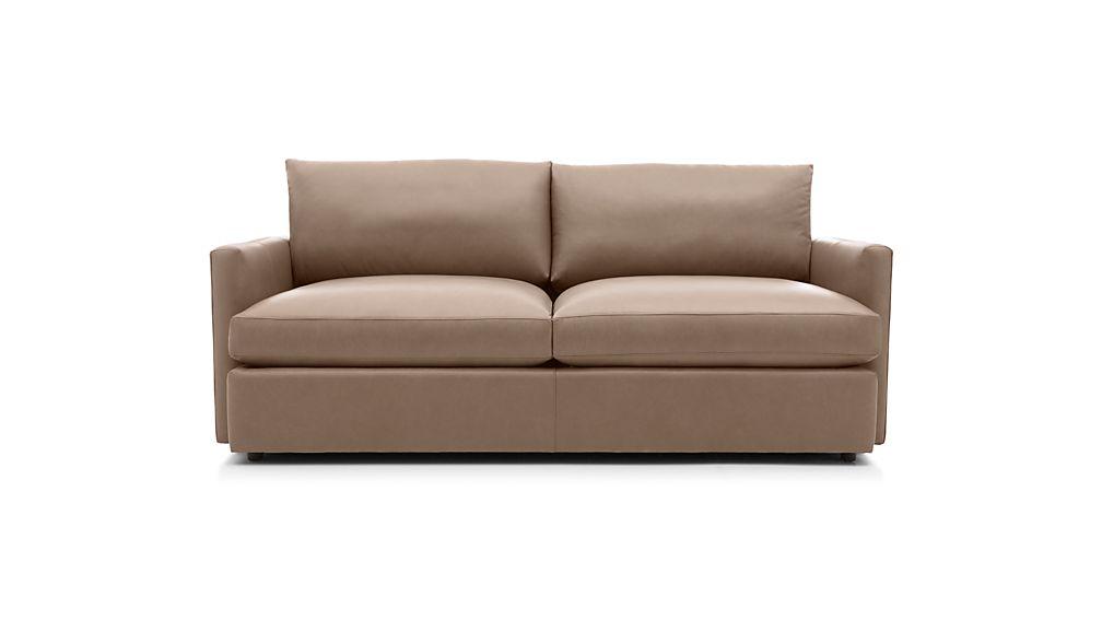 """Lounge II Petite Leather 83"""" Sofa"""