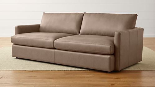 Sofas Couches And Loveseats Crate And Barrel - Brushed leather sofa 2