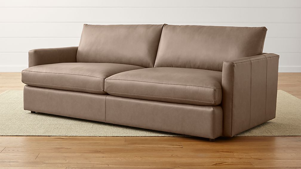 "Lounge II Petite Leather 93"" Sofa - Image 1 of 5"