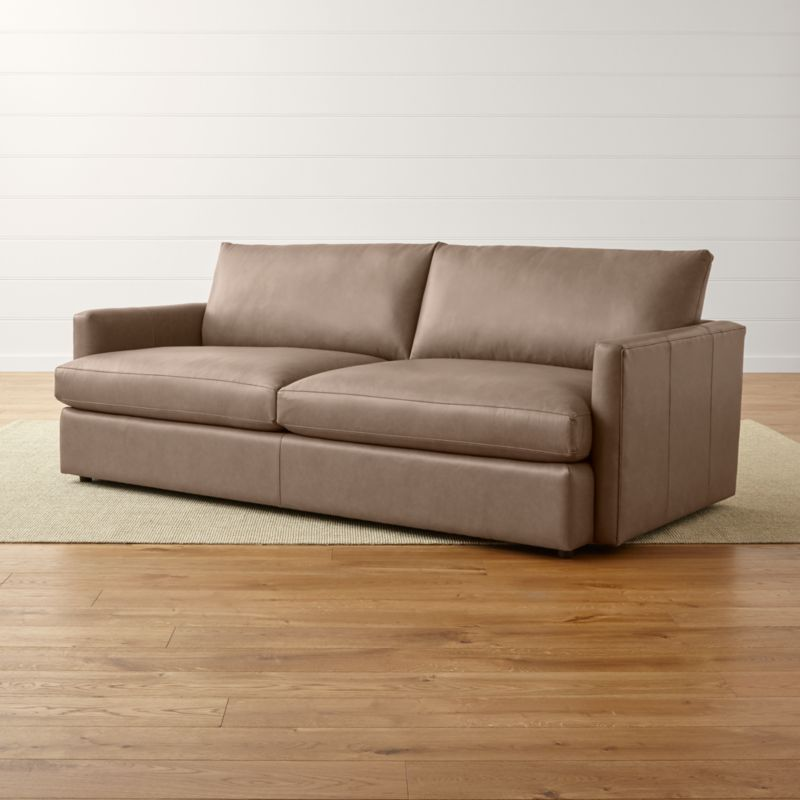 lounge ii leather apartment sofa crate and barrel