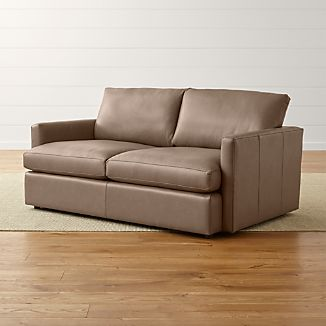 Lounge II Petite Leather Apartment Sofa