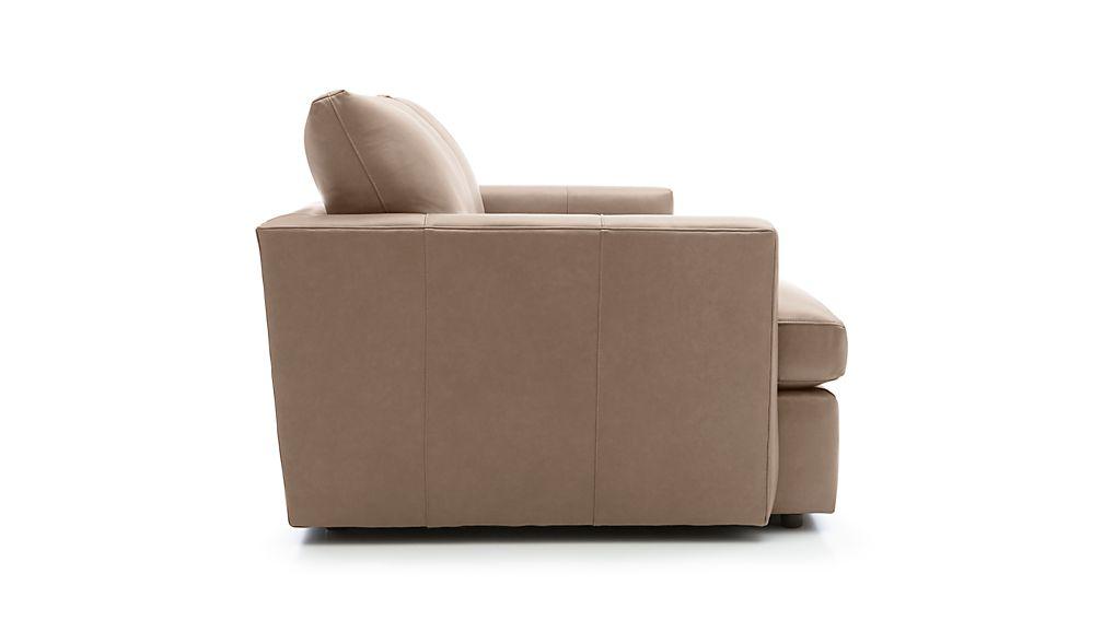 Lounge II Petite Leather Apartment Sofa
