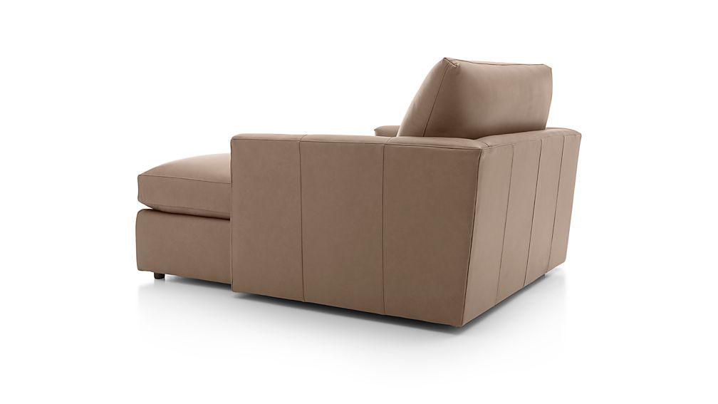 Lounge II Petite Leather Chaise Lounge