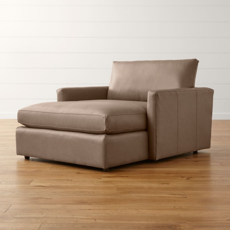 Lounge II Leather Chaise Lounge : chaise sofa lounge - Sectionals, Sofas & Couches