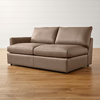 Lounge II Petite Leather Left Arm Apartment Sofa