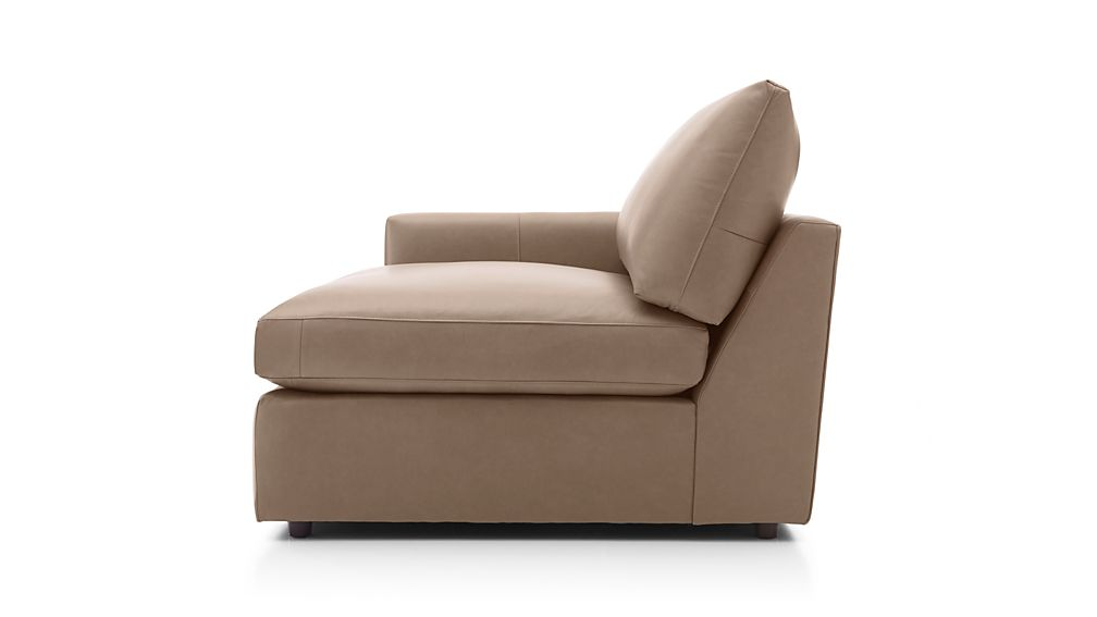 Lounge II Petite Leather Left Arm Chair