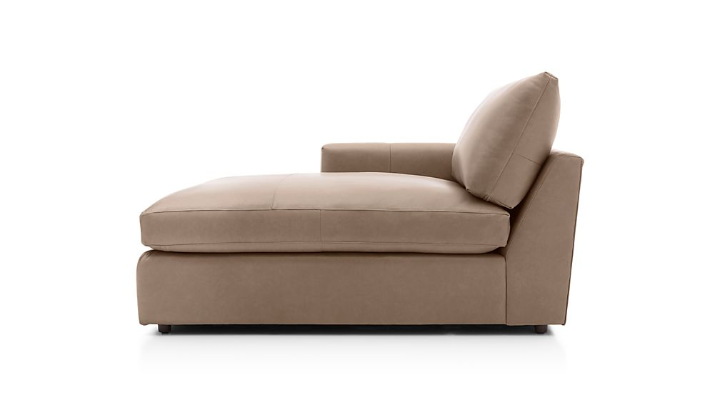Lounge II Petite Leather Left Arm Chaise Lounge