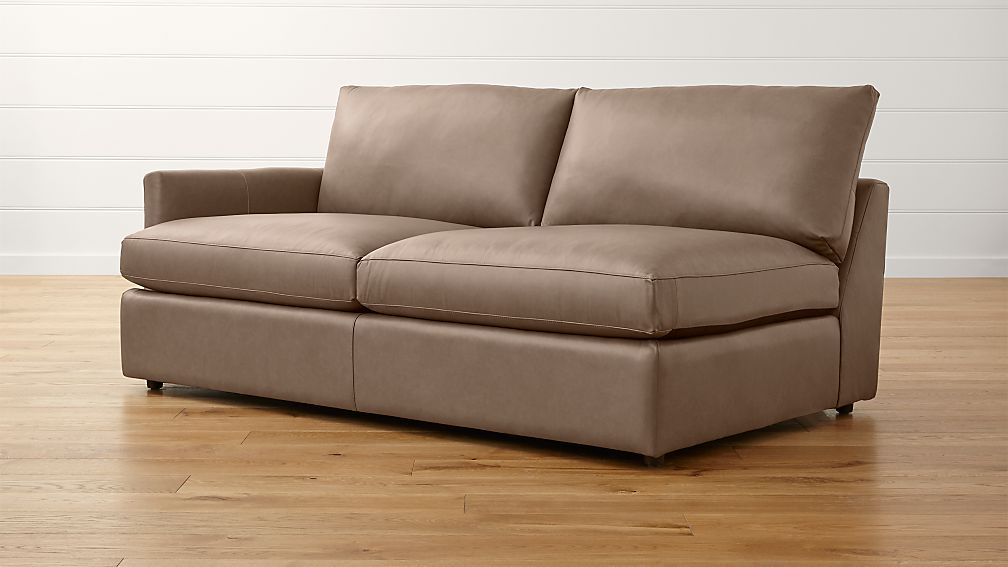 Lounge II Petite Leather Left Arm Sofa