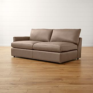 Lounge II Leather Left Arm Sofa