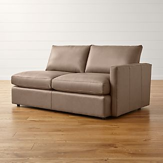 Lounge II Petite Leather Right Arm Apartment Sofa