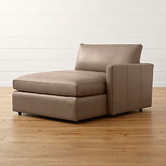 Lounge II Petite Leather Right Arm Chaise Lounge