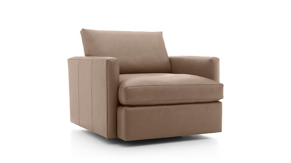 Lounge II Petite Leather Swivel Chair