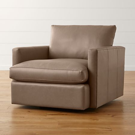 Lounge Ii Small Leather Swivel Chair