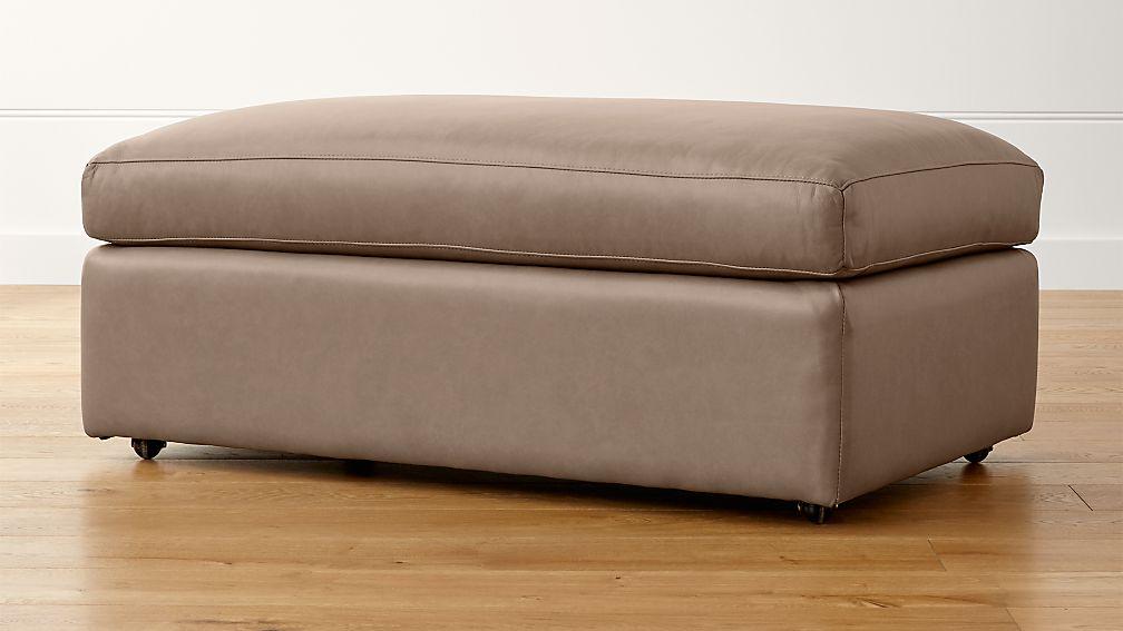 Lounge II Petite Leather Ottoman and a Half