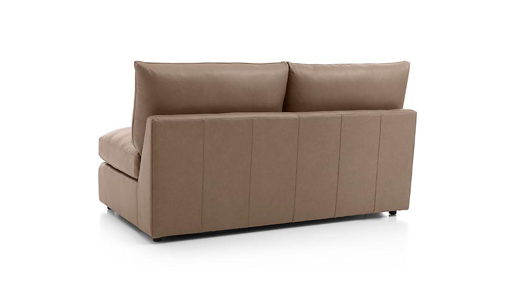 Lounge II Leather Armless Loveseat