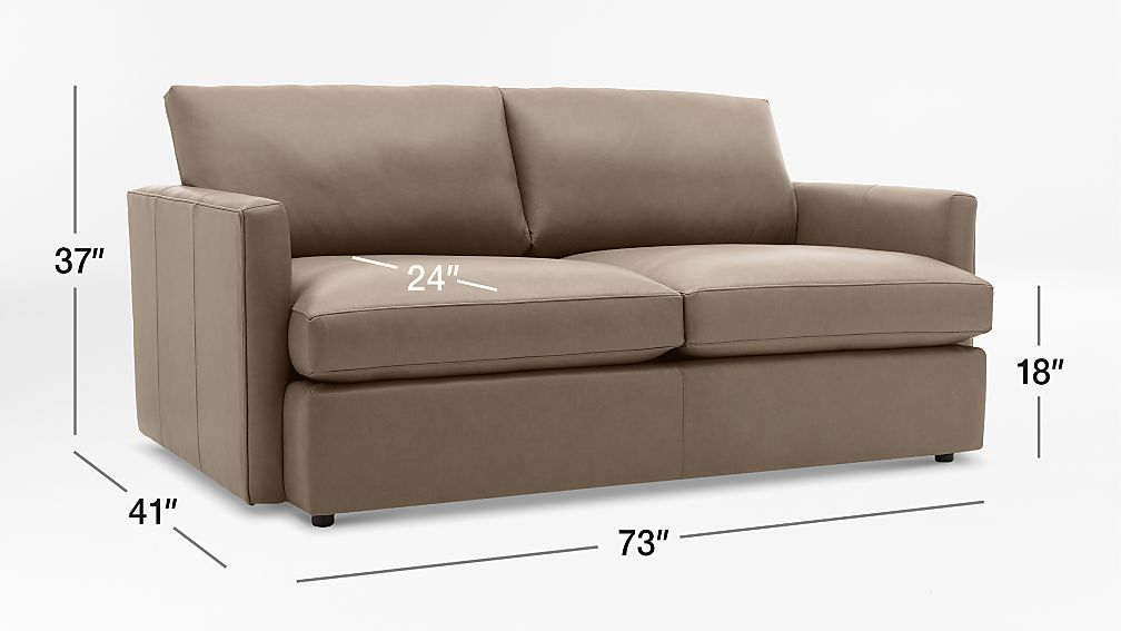 Lounge II Petite Leather Apartment Sofa + Reviews | Crate and Barrel