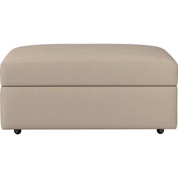 """Lounge 37"""" Ottoman with Casters"""