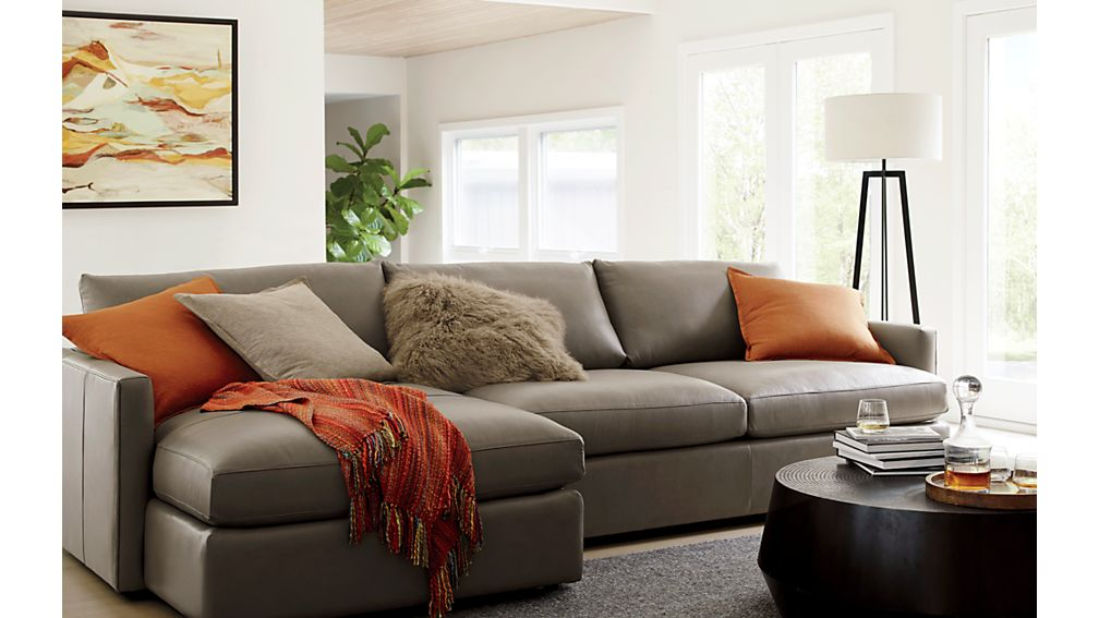 Lounge ii left arm chaise sectional sofa crate and barrel for Lounge ii 2 piece sectional sofa