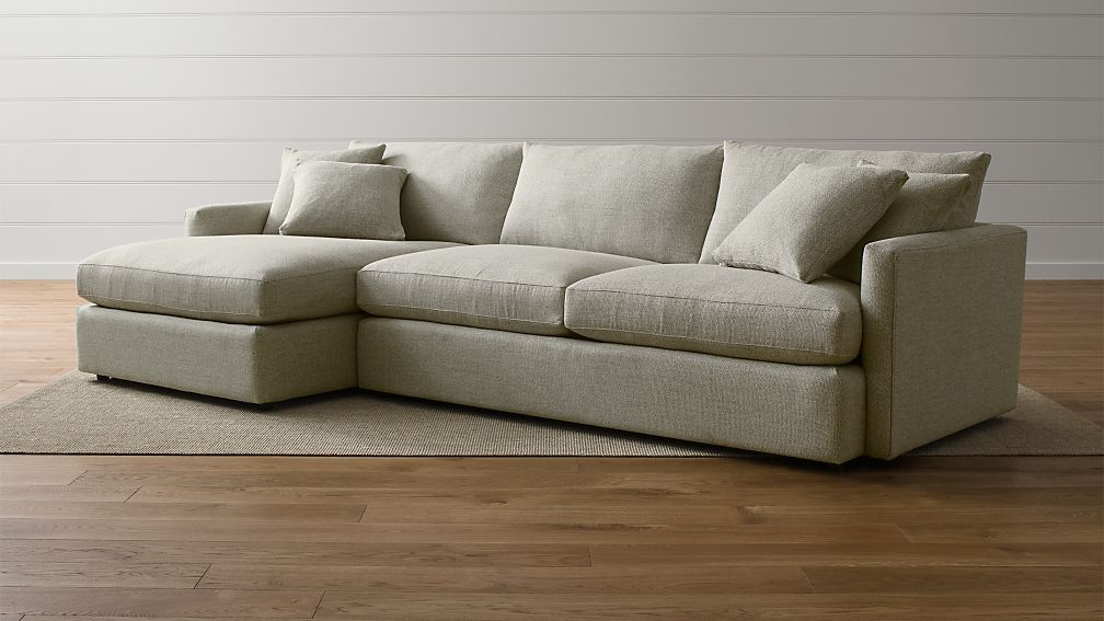 Lounge II Deep-Seated Sectional Sofa + Reviews | Crate and Barrel