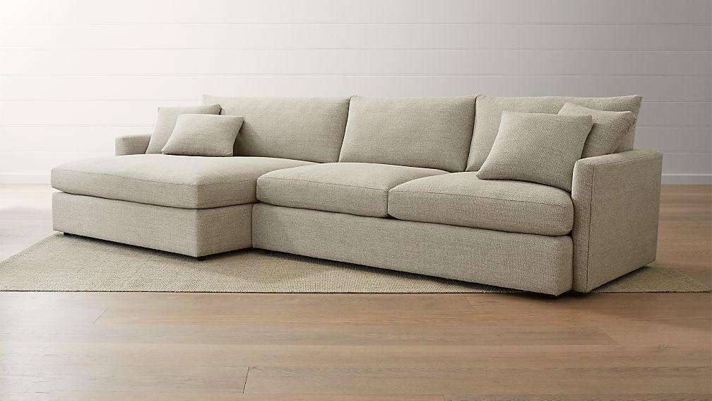 sectional sofa with chaise Lounge II 2 Piece Left Arm Double Chaise Sectional Sofa + Reviews  sectional sofa with chaise