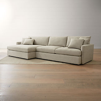Chaise Sectionals   Crate and Barrel
