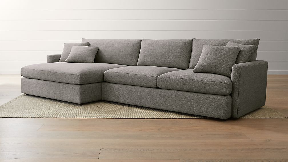 Lounge Ii 2 Piece Left Arm Double Chaise Sectional Sofa Reviews