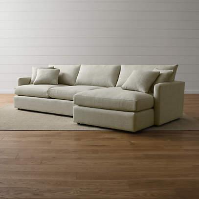 https www crateandbarrel com lounge ii 2 piece sectional sofa s303768