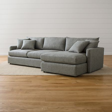 Fine Lounge Ii Light Grey Fabric Sectional Sofa Reviews Crate Inzonedesignstudio Interior Chair Design Inzonedesignstudiocom