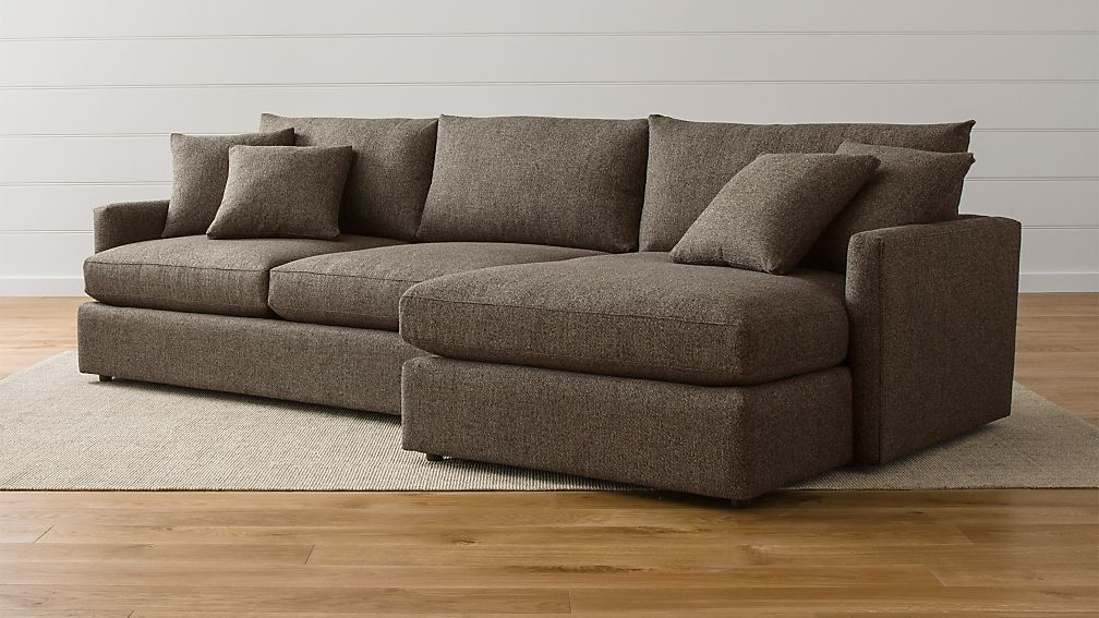 Lounge II 2-Piece Sectional Sofa + Reviews | Crate and Barrel