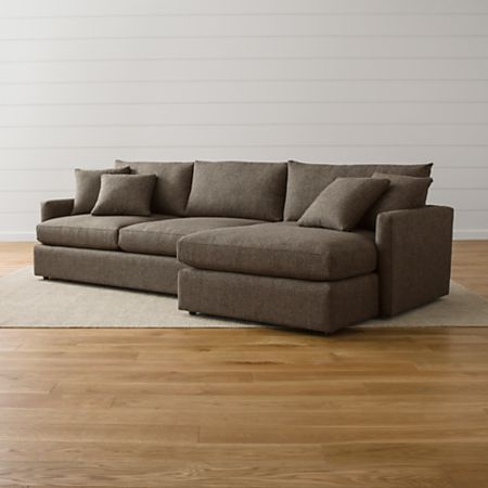 Lounge Ii 2 Piece Sectional Sofa Reviews Crate And Barrel