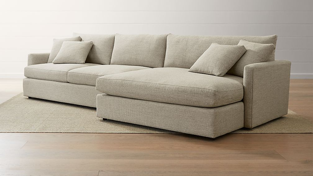Lounge ii 2 piece right arm double chaise sectional sofa for Lounge ii 2 piece sectional sofa