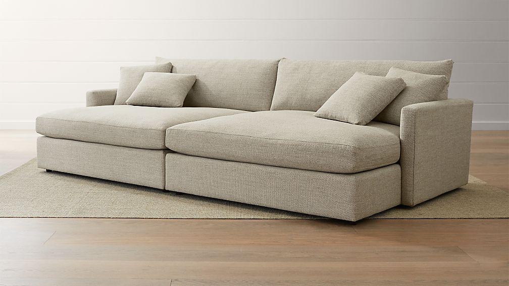 Lounge II 2 Piece Double Chaise Sectional Sofa ...