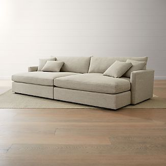 Deep Sectional Sofas Crate And Barrel