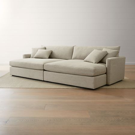 2 Piece Double Chaise Sectional Sofa