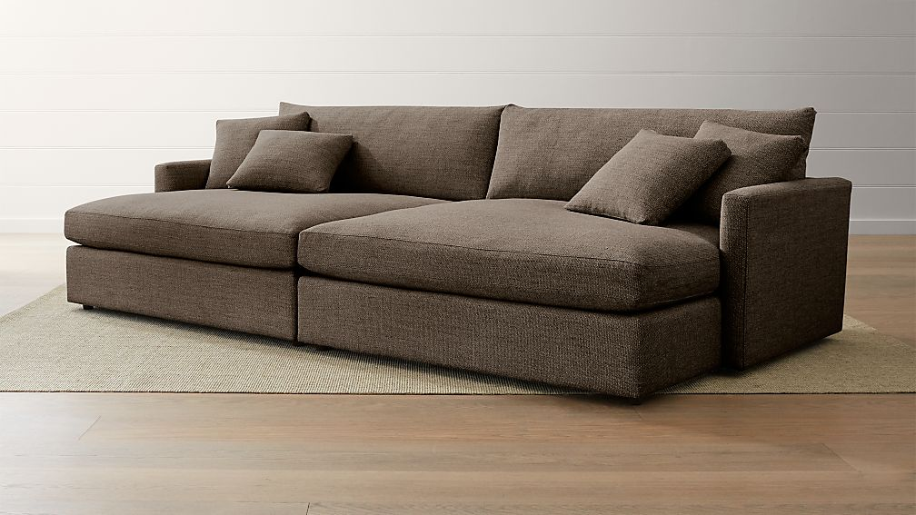 Lounge II 2-Piece Double Chaise Sectional Sofa ... : double chaise chair - Sectionals, Sofas & Couches