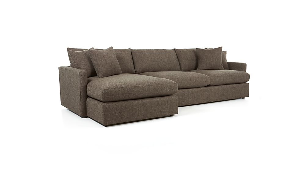 Lounge Ii Grey Chaise Sectional Reviews Crate And Barrel