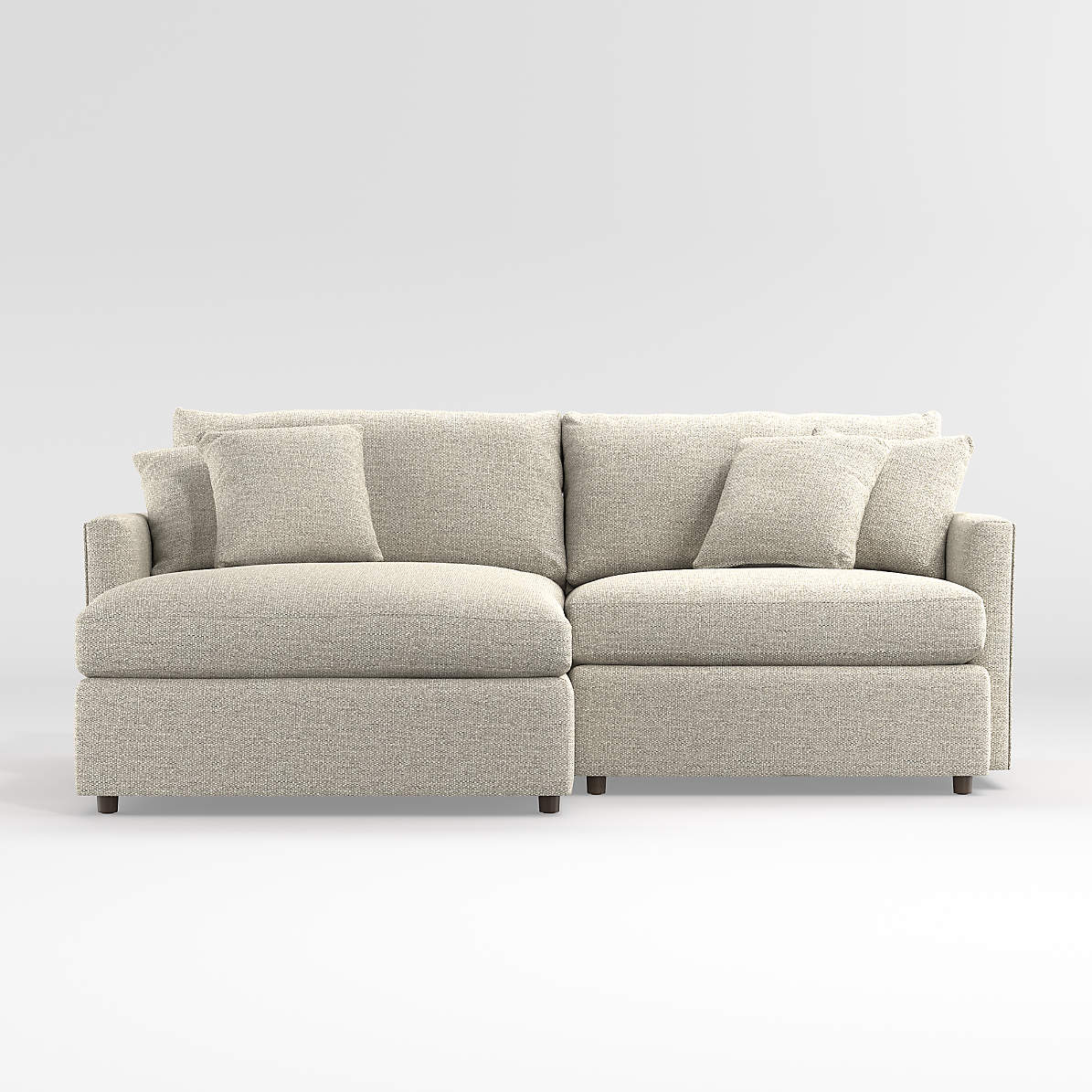 Picture of: Lounge 2 Piece Small Space Sectional Crate And Barrel Canada