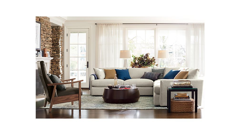 crate and barrel living room ideas.  Udan Round Coffee Table Crate and Barrel