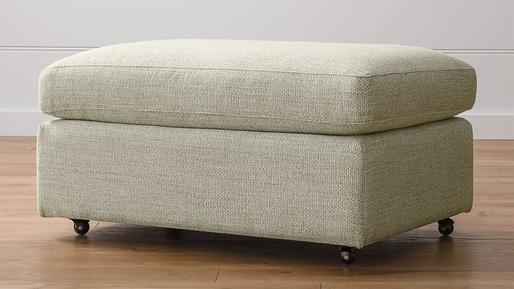 Lounge ii 37 ottoman with casters taft cement crate - What is an ottoman ...