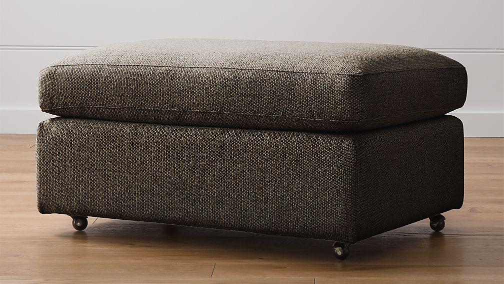 """Lounge II Petite 37"""" Ottoman with Casters - Image 1 of 4"""