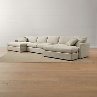 Lounge Ii 3 Piece Double Chaise Sectional Sofa