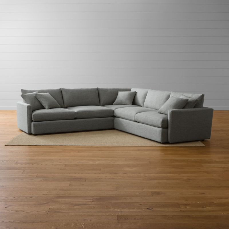 Lounge II 3-Piece Sectional Sofa Taft: Steel