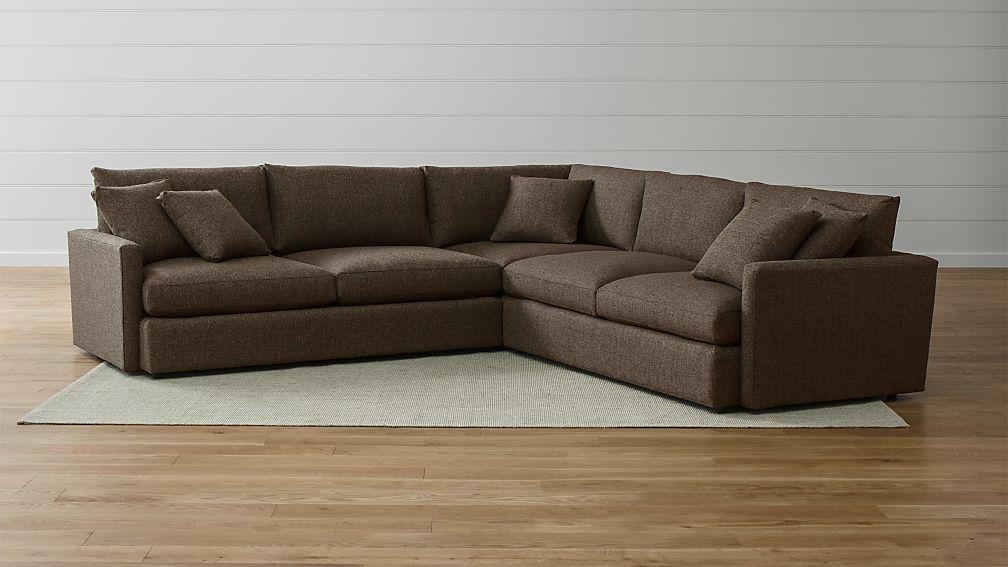 Lounge Ii Petite 3 Piece Sectional Sofa Reviews Crate