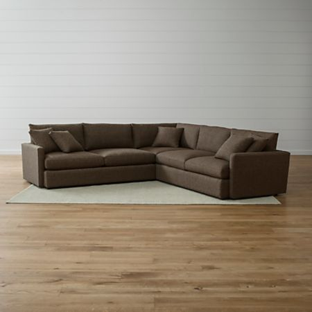 Lounge II Petite 3-Piece Sectional Sofa + Reviews | Crate and Barrel