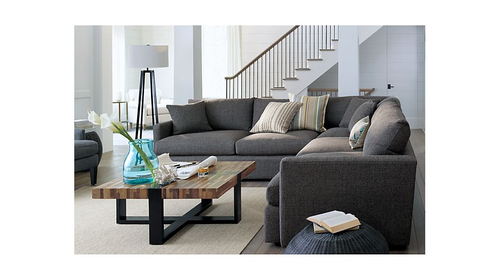 Lounge II Petite 3Piece Sectional Sofa Crate and Barrel