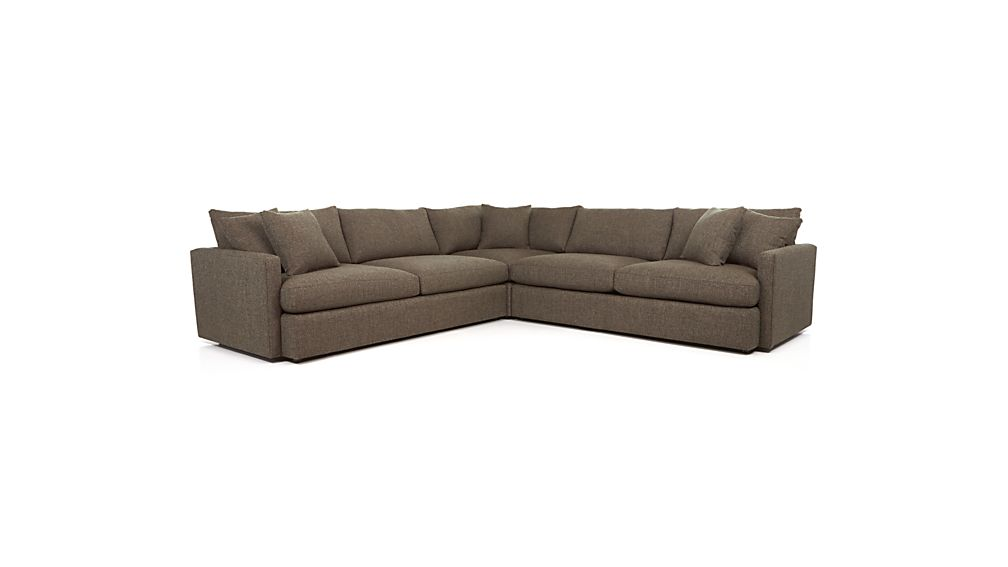 ... Lounge II Petite 3 Piece Sectional Sofa ...