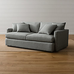 Lounge Ii Grey Couch Reviews Crate And Barrel