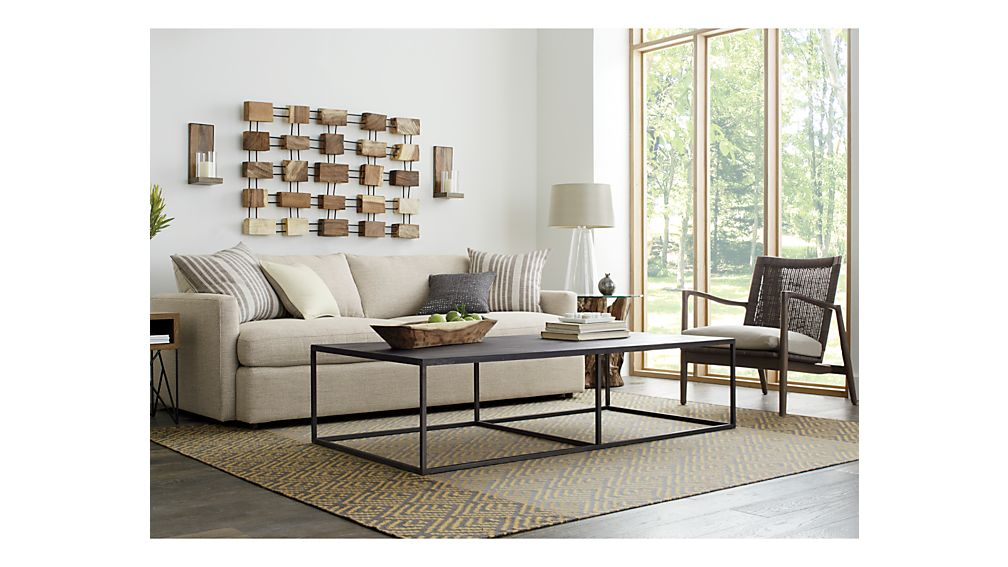 lounge ii petite 93 sofa crate and barrel. Black Bedroom Furniture Sets. Home Design Ideas